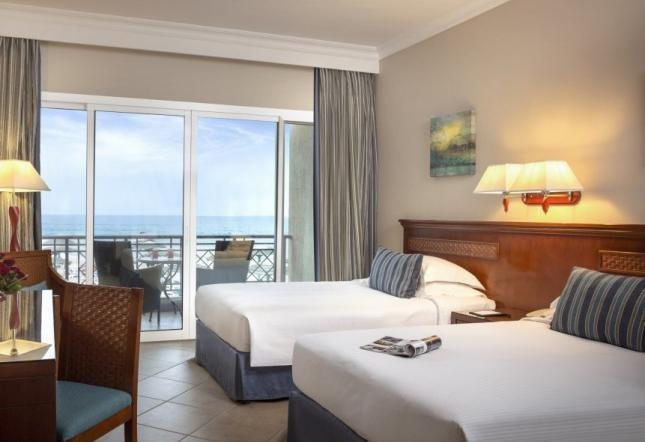Premium Zimmer Balkon mit Meerblick - Einzelbetten