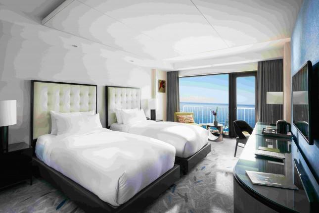 Deluxe 2 Twin Beds Ocean Terrace View